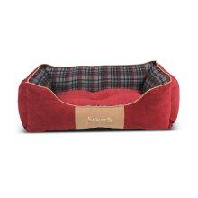 Scruffs Highland Dog Bed, Large, 75 x 60 cm, Red
