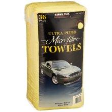 36pk Kirkland Signature Microfibre Towels - Yellow