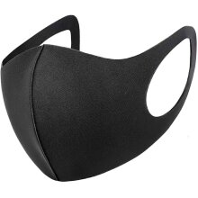 Black Reusable & Washable Face Mask   Reusable Face Covering