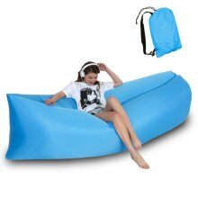 Inflatable Lounger Air Folding Sofa Lightweight Beach Sleeping Bag