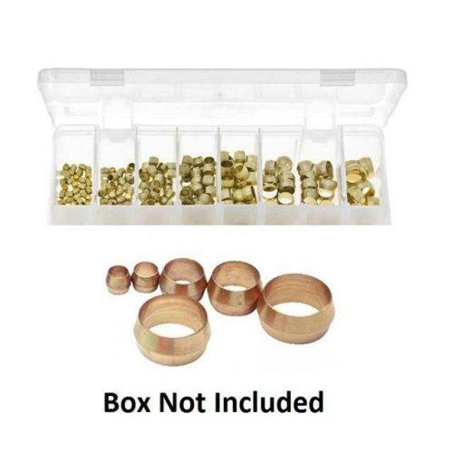 10 x 3/16 Brass Olive Barrel Plumbing Olives Compression Fitting Copper Pipe Gas - brass olive barrel 3/16
