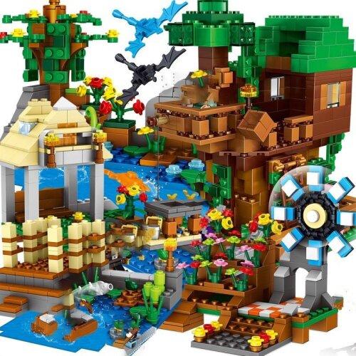 Compatible, Mountain Cave Light My Worlds Village- Building Blocks