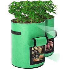2pcs Plant Bag With Handles,viewing Window And Velcro Closure