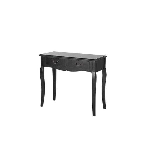 2 Drawer Console Table Black KLAWOCK