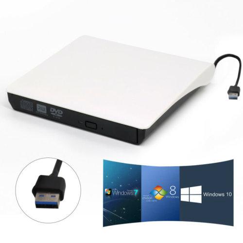 External USB 3.0 DVD ROM CD Drive Burner Reader Player For Laptop