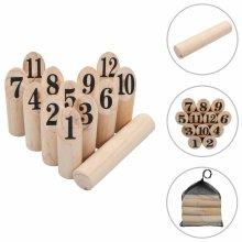 Number Kubb Game Set Wood