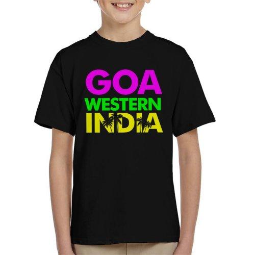 Goa Western India Neon Text Kid's T-Shirt