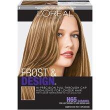 LOreal Paris Frost and Design cap Hair Highlights For Long Hair, H65 caramel