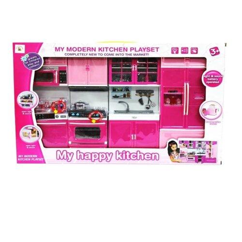 (Type) Happy Kitchen Modern Kitchen Set 4 Repair Part- Toy Kids