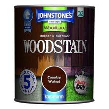 Johnstones Woodcare Indoor & Outdoor Woodstain 750ml Country Walnut