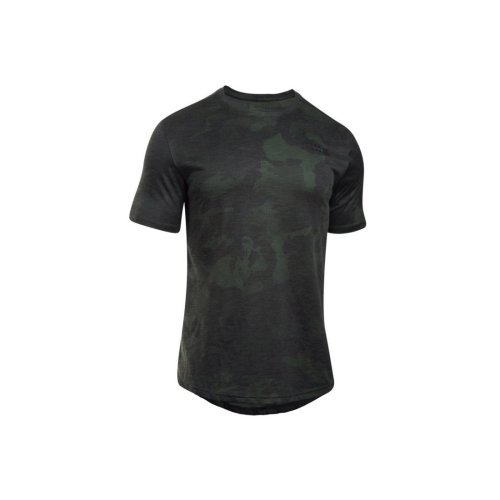 (XS) Under Armour Sportstyle Core Tee 1303705-357 Mens Green t-shirt