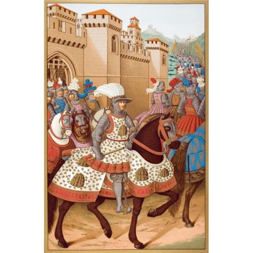 Louis Xii & His Army Leaving Alexandria On April 24 1507 On Way To Invade Genoa From Miniature by Jean Marot Poster Print, Large - 22 x 36