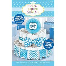 Amscan 380084 Party Supplies Blue It's A Boy Baby Shower Diaper Cake Decorating Kit Cotton Multicolor