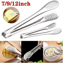 Stainless Steel Food Clip Barbecue Cooking Salad BBQ Buffet Clamp Tongs Tool