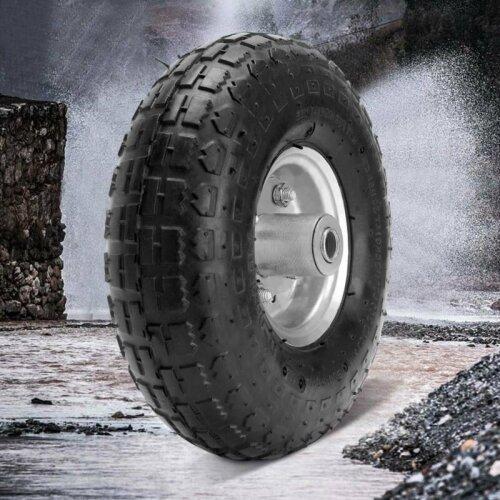 "1/2/4X10"" Pneumatic Sack Truck Trolley Wheel Barrow Tyre Tyres Wheels 4.10/3.5-4.0"