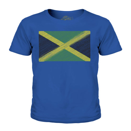 Candymix - Jamaica Scribble Flag - Unisex Kid's T-Shirt