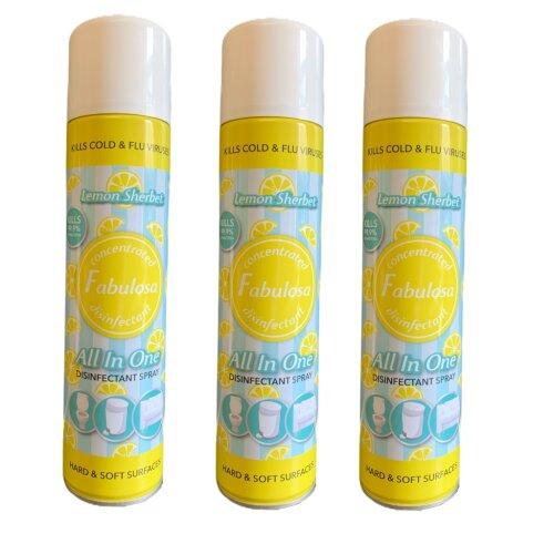 Fabulosa All in One Disinfectant Spray Lemon Sherbet