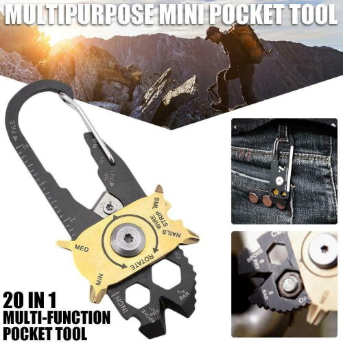 Outdoor EDC Survival Mini Multi Tool Key Ring Keychain Wrench Tool