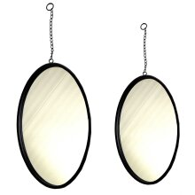 Metal Frame Oval Wall Hanging Mounted Glass Mirror