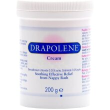 2 x Drapolene Cream 200g Tub | Prevents and Treats Nappy Rash | Soothes and Protects Baby's bottom from newborn onwards