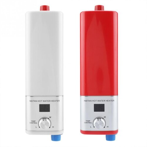 Digital Tempreture Display Tankless Water Heater, Instant Electric Instantaneous Shower, Hot Water, Kitchen Bathroom