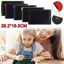 "12"" LCD Tablet Drawing Writing Board Kid Notepad eWriter Digital Graphic UK"