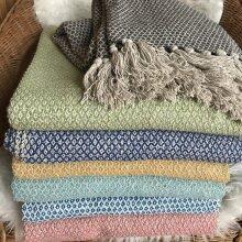 Spring/Summer Fairtrade Pina Throws 100% cotton