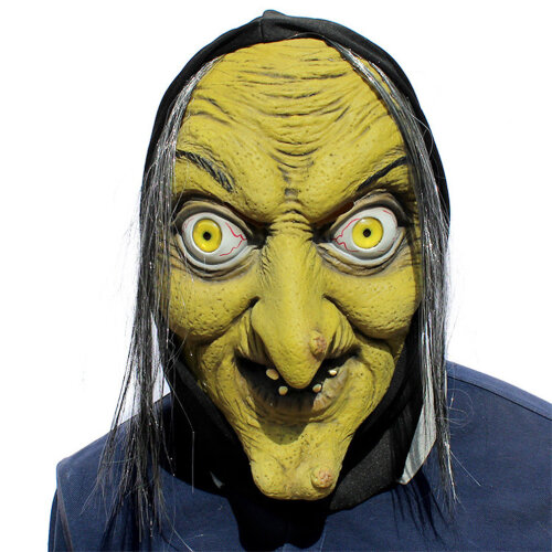 Halloween Horror Witch Mask Witch Scary Latex Headgear Dance Bar Props
