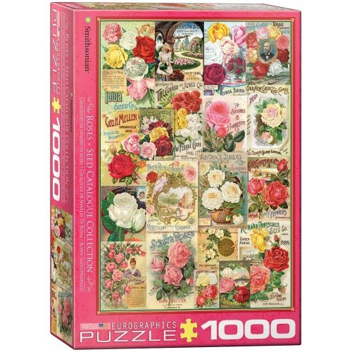 Eg60000810 - Eurographics Puzzle 1000 Pc - Roses Seed Catalogue