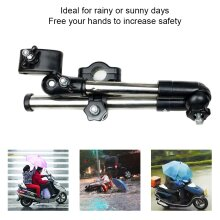 Stainless Steel Universal Easy Install Anti Slip Angle Adjustable For Bike Electric Bicycle Wheel Chair Summer Umbrella Stand