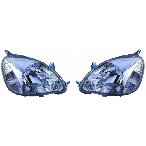 Toyota Yaris Mk1 Hatchback 5/2003-2005 Headlights Headlamps 1 Pair O/S & N/S