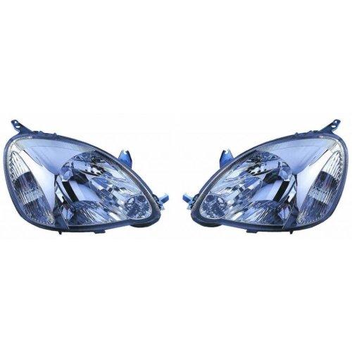 Toyota Yaris Mk1 Hatchback 5/2003-2005 Headlights Headlamps 1 Pair O/S & N/S