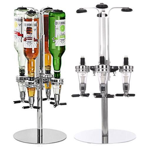 Rotary 4 Bottle Stand Drinks Optics Dispenser in Spirits