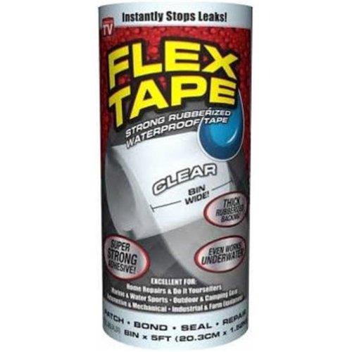 Swift Response 240242 8 in. x 5 ft. Clear Flex Tape