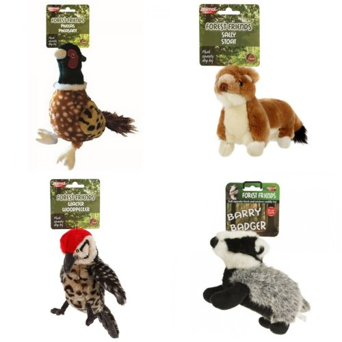 Size: Large Animal Instincts Sammy Squirrel Squeaky Dog Toy