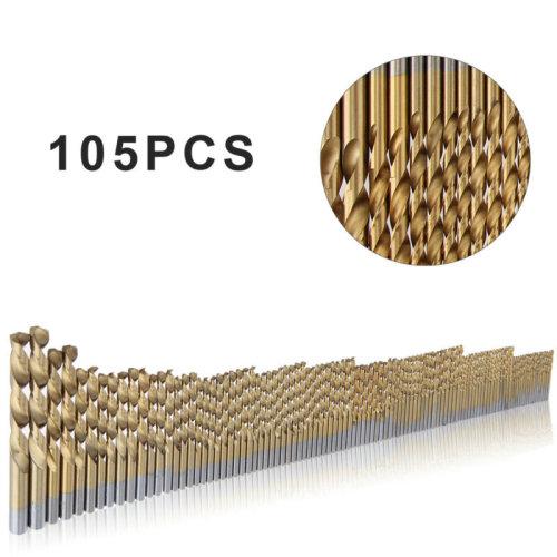105pcs Cobalt Drill Bits Set for Stainless Steel Metal HSS-Co Cobalt