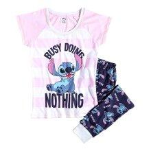 Women's Disney Lilo and Stitch 'Busy Doing Nothing' Pyjama Set