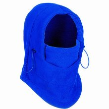 TRIXES Unisex Half Face Fleece Balaclava Hood – Blue