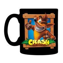 Mug - Crash Bandicoot - Black Coffee Cup New cmg-crash-crte