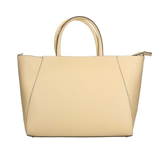 (Beige) 42x29x15 cm - Tote Leather bag - Made in Italy