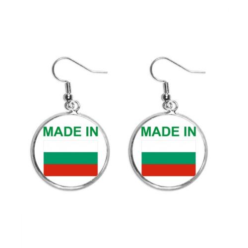 Made In Bulgaria Country Love Ear Dangle Silver Drop Earring Jewelry Woman