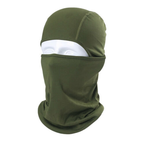 (Army Green) Men Women Plain Balaclava Sun Protection Full Face Mask Neck Cover Headwrap