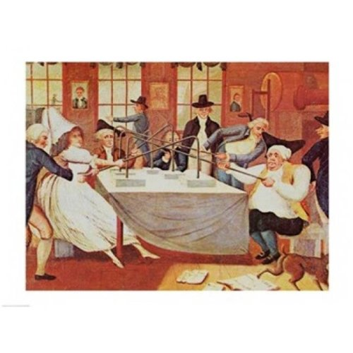 Benjamin Franklins Experiments with Electricity Poster Print - 24 x 18 in.