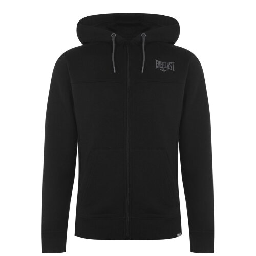 Everlast Mens Full Zip Hoody Hooded Fleece Lining Ribbed Casual Soft Fabric Top