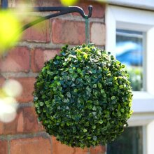 Weatherproof Solar Powered Topiary 20 Ultra Bright LED Ball Install Anywhere 28cm