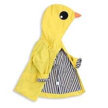 Toddler Baby Boy Girl Duck Raincoat Cute Cartoon Hoodie Zipper Coat Outfit (Yellow, 90)