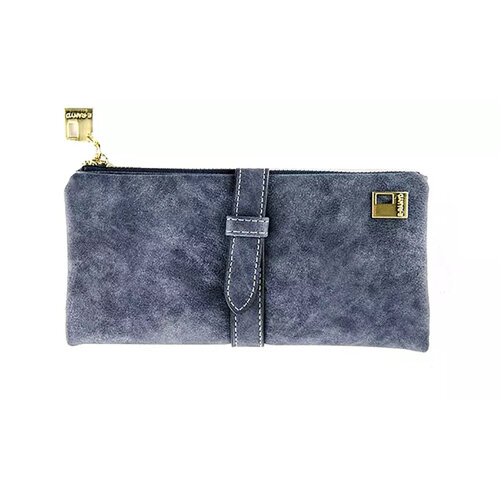 Wallets for Women Faux Suede Coin Purse Ladies Ultrathin Wallets -Gray