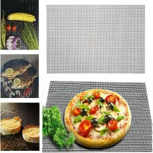 BBQ Grill Mesh Stickless Mat Sheet Resistant Bake Cooking Barbecue Home Outdoor