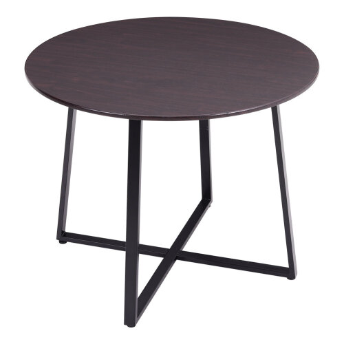 Wooden Dining Table Round Metal Legs, 100cm