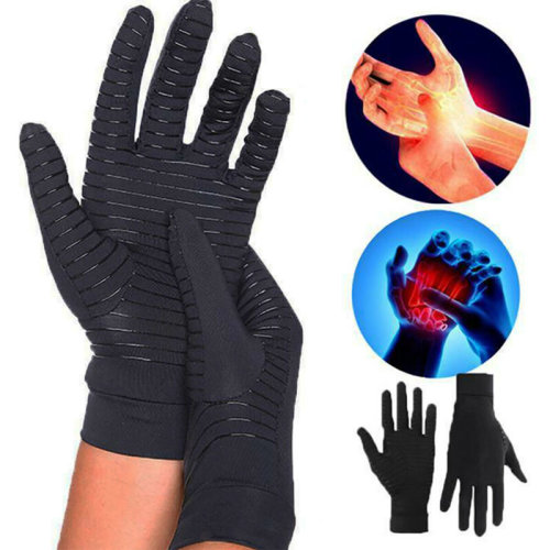Compression Gloves Hand Support Anti Arthritis Pain Relief Full Finger Protect